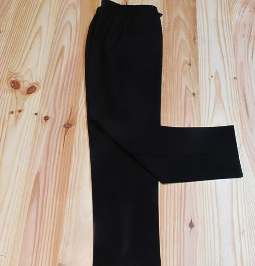 Pantalon De Verano Con Goma En La Cintura Negro El Pequeno Almacen Ropaparamayores Es